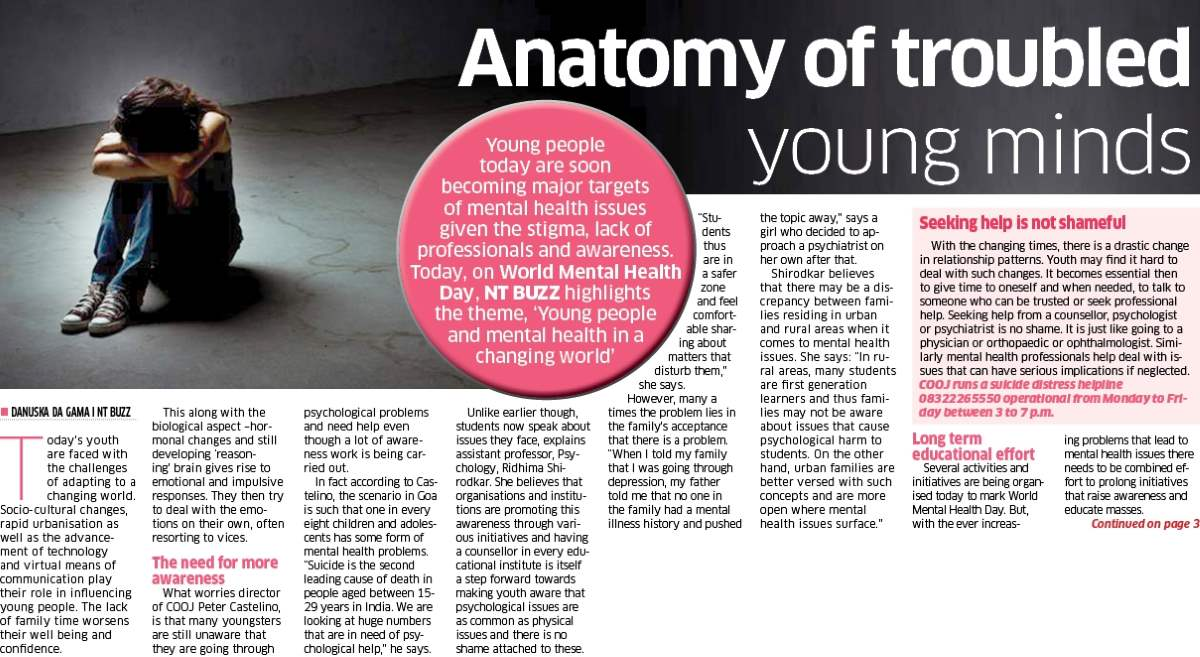 Anatomy of troubled young minds